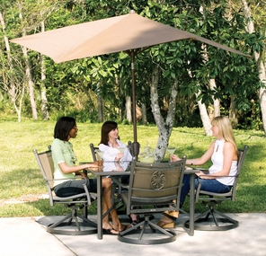 Coolaroo Nine Foot Hexagonal Contemporary Umbrella