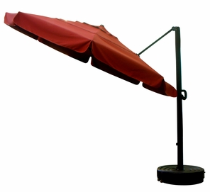 California Umbrella 11 Foot Canopy Cantilevered Aluminum Umbrella