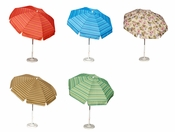7 ft 6 in California Umbrella, Tilt & Crank Aluminum Pole Market, Deck & Spa Umbrella with Valance