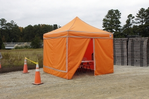 King Canopy Emergency Response Shelter - Instant Canopy in Hi Visibility Orange
