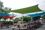 Aluminum Pole Kit for Shade Sails - 9 Feet