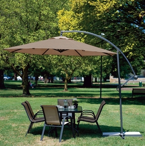 Coolaroo Ten Foot Aluminum Cantilever Patio Umbrella