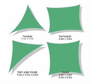 Kookaburra Rectangular & Right Angle Shade Sails Premium Series