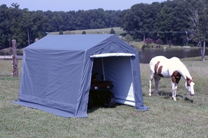 King Canopy Storage Shelter - Powder Coated Steel Frame Shelters in Two Sizes