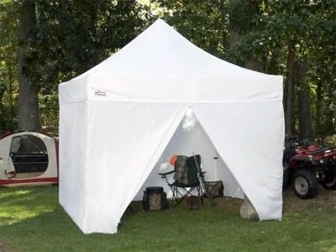 Instant Shelters With Side Walls : King canopy tuff tent portable instant with side