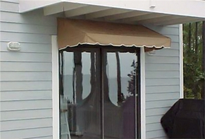 EZAwn Classic Style Window Awnings & Door Canopies Sized 4', 6', AND 8' wide in Sunbrella Awning Fabric