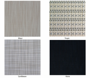 Indoor or Outdoor Window Shades Available in Standard or Custom Sizes in Four Colors
