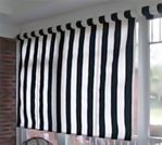 Exterior or Porch Window Roll Up Window Shades in Sunbrella Fabrics with Manual Hand Crank or Motorized