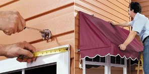 Contemporary Style Door Canopy - Straight Edge Valance