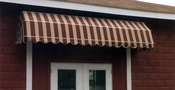Parisian Styled Sunbrella Fabric Door Canopy