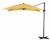 California Umbrella 8 Foot Square Canopy Cantilevered Aluminum Umbrella