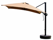 California Umbrella 10 Foot Square Canopy Cantilevered Aluminum Umbrella