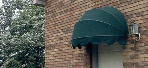 Dome Shaped Sunbrella Fabric Door Canopies