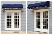 EZAwn Quarter Round Style Window Awnings & Door Canopies Sized 4', 6' & 8' wide in Sunbrella Awning Fabric