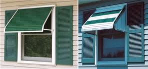 Aluminum Window Awnings - Sizes 3 to 8 Feet Wide