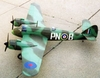 Bristol Beufighter #D08 Easy Built Models Balsa Wood Model Airplane Kit Rubber Powered