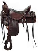 TUCKER OLD WEST TRAIL SADDLE-TOOLED (BN, BK, GN) 277