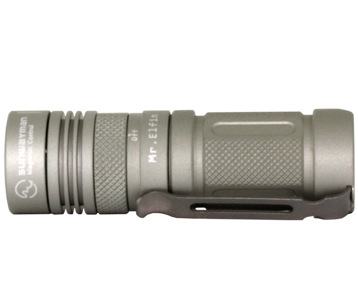 Sunwayman M11R U2 Mr. Elfin 230 Lumens Ultra-compact Magnetic Control Flashlight- Uses 1 x CR123A or 16340 Battery - Natural