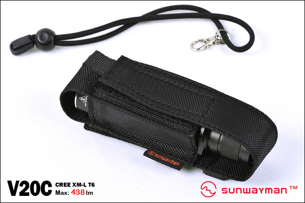 SUNWAYMAN V20C LED Flashlight 438 Lumens, 2 x CR123A or 1 x 18650 Battery