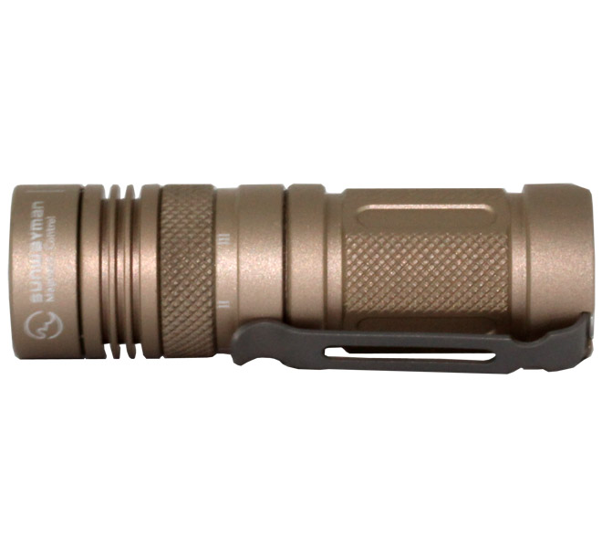 Sunwayman M11R U2 Mr. Elfin 230 Lumens Ultra-compact Magnetic Control Flashlight -  1 x CR123A or 16340 Battery  - Tan