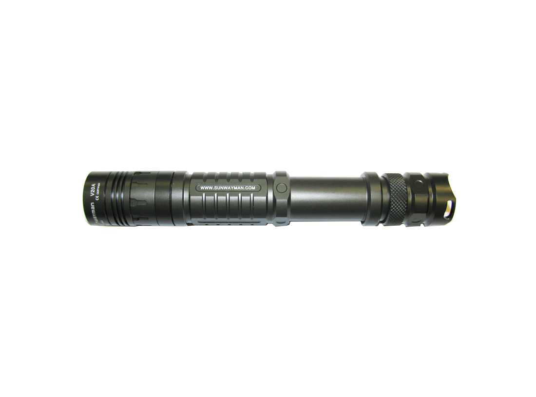 SUNWAYMAN V20A LED Flashlight with CREE XM-L T6 LED - Up To 460 Lumens - Uses 2 x AA or 1 x 14500