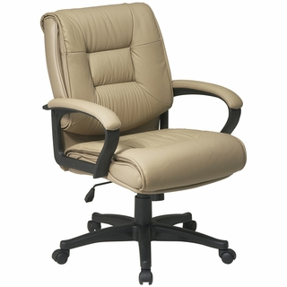 Office Star Work Smart Deluxe Mid-Back Leather Office Chair - EX5161 - Click to enlarge