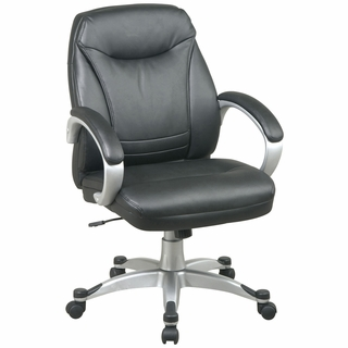 Office Star Work Smart Deluxe Mid-Back Office Chair - FLH80016-U6 - Click to enlarge