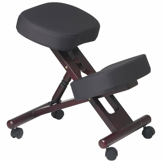 Office Star Work Smart Mahogany Finished Knee Chair - KCW773 - Click to enlarge