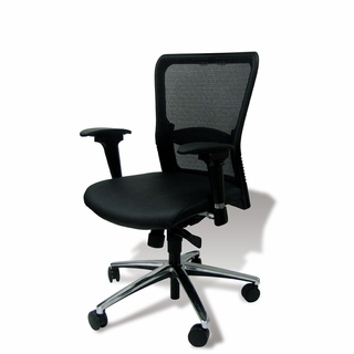 Ergo Office Mesh & Black Leather Executive Office Chair - x5297 - Click to enlarge