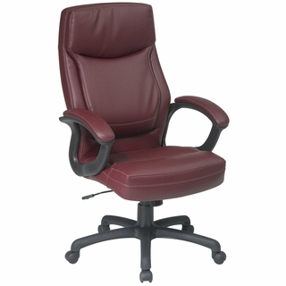 Office Star Work Smart Executive Eco-Leather Office Chair - EC6583 - Click to enlarge