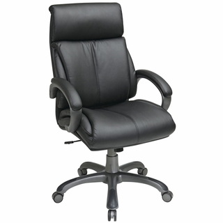 Office Star Work Smart High-Back Leather Executive Office Chair - ECH68807-EC3 - Click to enlarge