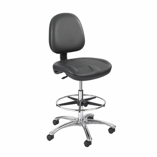 True Comfort Gel Extended-Height Office Chair - 6748 BL - Click to enlarge