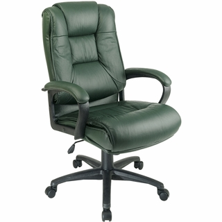 Office Star Work Smart Leather High-Back Office Chair - EX5162 - Click to enlarge