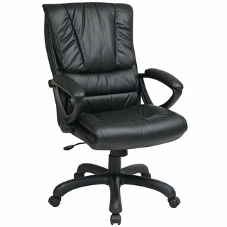 Office Star Work Smart Pillow-Top Leather Executive Office Chair - EX6710 - Click to enlarge