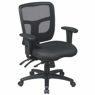 Office Star ProLine II Black ProGrid Back Managers Chair - 92893 - Click to enlarge