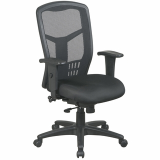 Office Star ProLine II ProGrid Black Mesh Back Office Chair - 90662 - Click to enlarge
