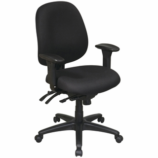 Office Star Work Smart Mid-Back Ergonomic Office Chair - 43891 - Click to enlarge