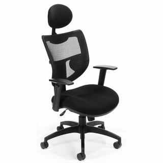OFM Contemporary Executive Mesh Chair w/ Headrest - 580 - Click to enlarge