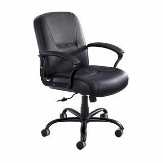 Serenity Big & Tall Mid-Back Executive Chair - 3501 BL - Click to enlarge