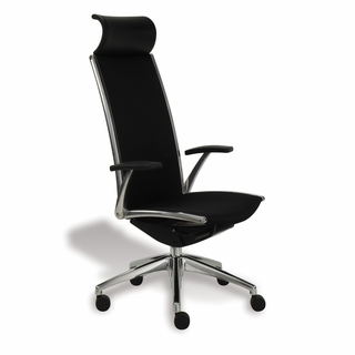 Ergo Office Ultra High-Back Black Leather Executive Office Chair - x5282 - Click to enlarge