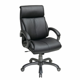 Office Star Work Smart Executive High-Back Leather Office Chair - ECH68807-EC3 - Click to enlarge
