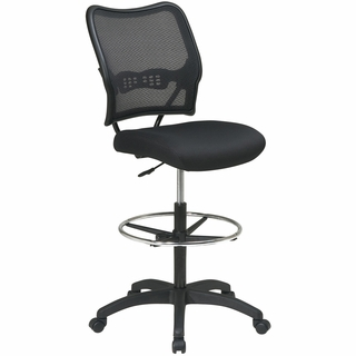 Office Star Space AirGrid Back Drafting Chair - 13-37N20D - Click to enlarge