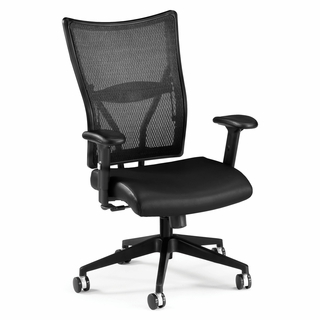 OFM Ultimate Leather Mesh Executive Chair Mid-Back - 591-L - Click to enlarge