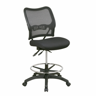 Office Star Space Black AirGrid Drafting Office Chair - 13-37N30D - Click to enlarge