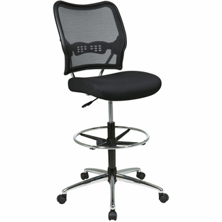 Office Star Space Deluxe AirGrid Black Drafting Chair - 13-37P500D - Click to enlarge