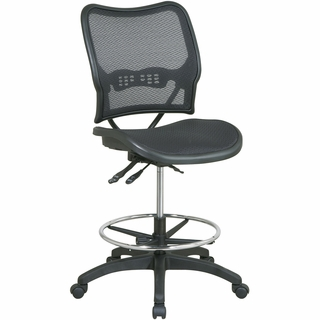 Office Star Space Ergonomic AirGrid Drafting Chair - 13-77N30D - Click to enlarge