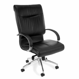 OFM Sharp Executive Leather Hi-Back Chair - 510-L - Click to enlarge