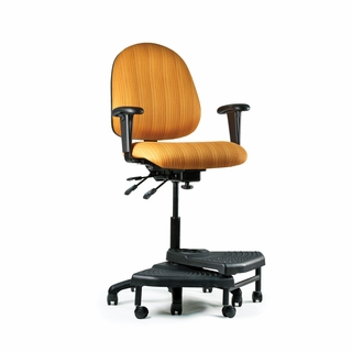 Neutral Posture Shark Series Mid-Back Ergonomic Chair - SHA2135-L5-R10 - Click to enlarge