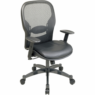 Office Star Space Managers Chair with Leather Seat - 2400 - Click to enlarge