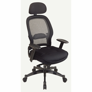 Office Star Space Managers Chair with Headrest - 25004 - Click to enlarge